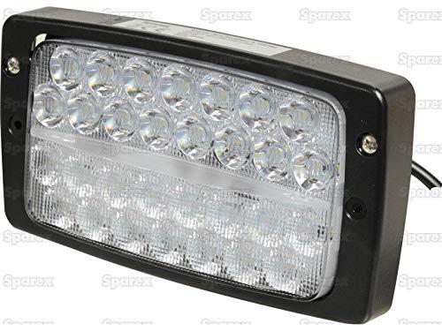 Sparex, 2 x LED-Arbeitsscheinwerfer Fendt/Massey Fergusson/Case, Typ Hella 60 W - 3280 Lumen