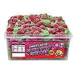 sweetzone 100% halal jelly sour twin cherries full tub 120 pcs SWEETZONE 100% Halal JELLY SOUR TWIN CHERRIES FULL TUB 120 PCS 51kdLhO5BxL