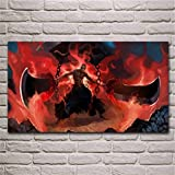 artwu Anime Bankai Bleach Fantasy Ikkaku Madarame Warrior,Wall Art Home Wall Decorations for Bedroom Living Room Oil Paintings Canvas Prints -1338 (Framed,16x28inch)