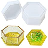 Box Resin Molds,DIY Hexagon Storage Box Resin Mold for Making Gift Boxes, Jewelry Box Molds for Storing Earrings, Rings, Coins, Keys(1PCS)