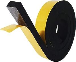 NTG-SOLUTION Afdichtingstape voor deuren, zelfklevende deurafdichting 25mm (B)x10mm(D) x 4m (L) rubberen afdichting,geluid...