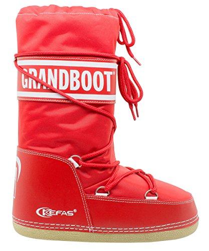 Kefas - GRANDBOOT - Herren Damen Kinder Schneestiefel After Ski Boots Rot 32/34