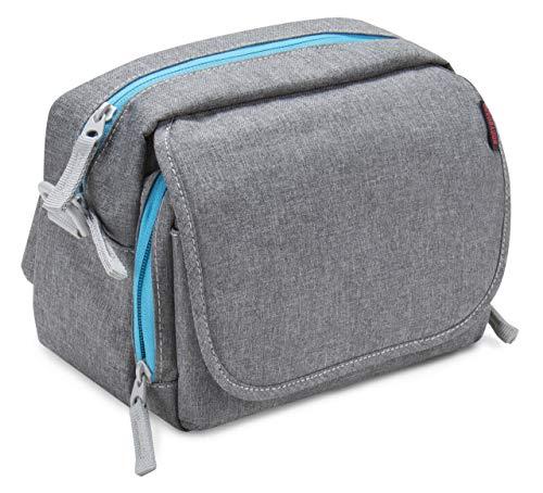 Bodyguard System Messenger Bag camera tas grijs, kan worden gebruikt als brug camera tas en systeem camera tas, heupriem, vele compartimenten, ruimte voor systeemcamera en 2-3 lenzen