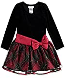 Bonnie Jean Girls' Hipster Dresses (Black/Red/Green, 5)