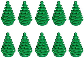 LEGO NEW 10 pcs GREEN PINE TREE SMALL 2x2x4 Plant Christmas City Town Building Forest Greenery Foliage Train Pack set boy girl part piece
