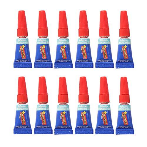 12 Super glue gel adhesivos pegamento instantáneos monodosis (12 x 1g Monodosis)