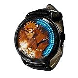 Reloj de Anime Naruto Reloj Pantalla táctil LED Impermeable Reloj de luz Digital Reloj de Pulsera Unisex Cosplay Regalo Nuevos Relojes de Pulsera niños-A2
