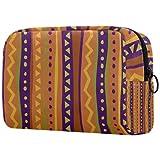 Yitian Bolso cosmético geométrico de la tribu para las mujeres, adorable bolsa de maquillaje espaciosa bolsa de aseo de viaje