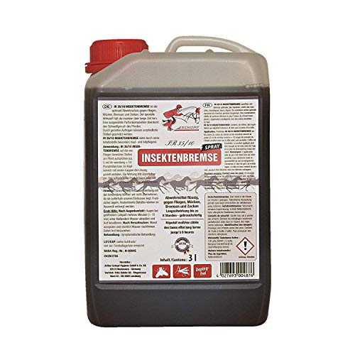 Schopf 302046 Pferde, Fliegenschutz mit Langzeitwirkung mit Aloe Vera, 3 Liter