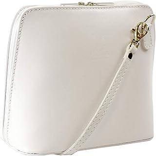 38477a04d Genuine Vera Pelle Women Cross body Italian Leather Small Mini Shoulder Bag  Handbag