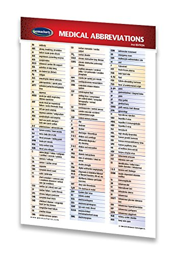 Medical Abbreviations Guide - Pocket Chart - Medical Quick Reference Guide by Permacharts