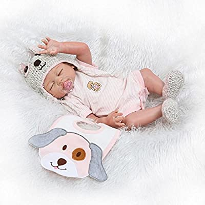 Pinky 50cm 20Inch Vinyl Silicone Full Body Girl Doll Newborn Lifelike Reborn Baby Dolls Toddler Magnetic Mouth Dummy