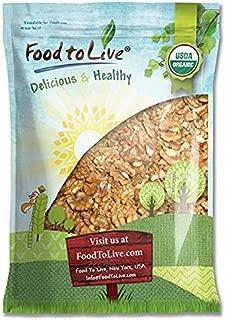 Food to Live Organic Walnuts Shelled (Kosher, Bulk) — 5 Pounds