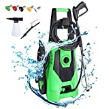 Product Image of the TubyTime 3000PSI Electric Pressure Washer, Portable High Power Cleaner Machine, 1.8GPM 1800W Car Washer w/Spray Gun, 5Interchangeable Nozzle, Hose&Foam Cannon, for Patio, Garden, Driveways, Farm, Home