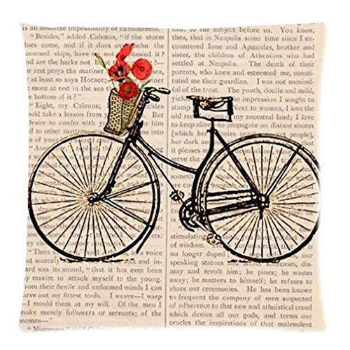 pengyong Bath Bicycle Pattern Best Gifts Decorate Pillowcase Custom Pillowcase Soft Pillow Case Zippered Pillow Case Cover in Roomy Size 18x18 (Two Sides) Fashion Design