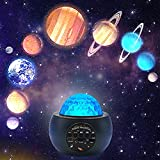 Laysinly Solar System Planet Projector Night Light, Galaxy Star Projector Light, Music Bluetooth Speaker, Astronomy Multicolor Bedroom Projector Light, Children Adult Present (Planet)