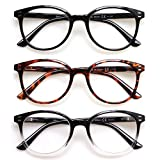 3 Pack Reading Glasses Spring Hinge...