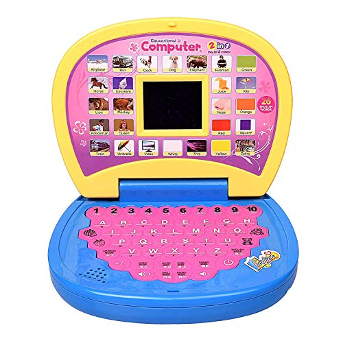JIADA Kids Laptop, LED Display, with Music, Educational Laptop Learner with LED Screen, Multicolor