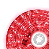 Tubo luminoso con 240 LED, 10 m, per interni ed esterni, colore: rosso