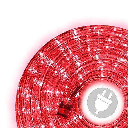 10m 240 LED Lichterschlauch Lichtschlauch rot - Innen- und Außenbereich