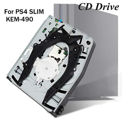 Wendry Unidad de CD Incorporada para Slim KEM-490,Kit de Reemplazo de Máquina de Juego,Unidad de Disco Portátil Lector de CD y Reproductor,Alta Precisión y Exactitud