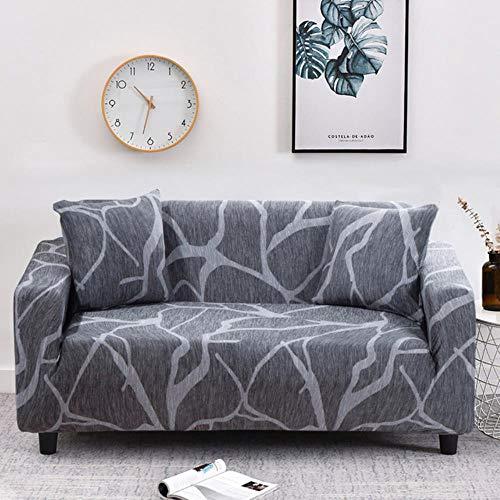 JIAYAN Elastic Sofabezug Set Baumwolle Universal Sofabezüge für Wohnzimmer Haustiere Sesselbezug Sofa Chaise Longue-Color25,1-Sitzer 90-140cm, China