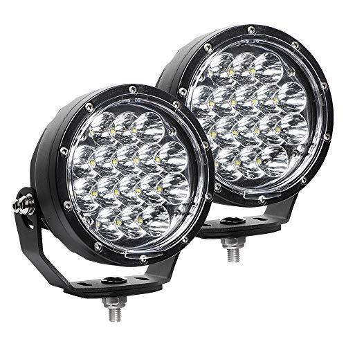 Exzeit 5 Inch Led Driving Lights Round, 80W 11200 Lumens Waterproof Fog Lights Driving Lights for Jeep Wrangler Trucks Toyota Pickup GMC SUV