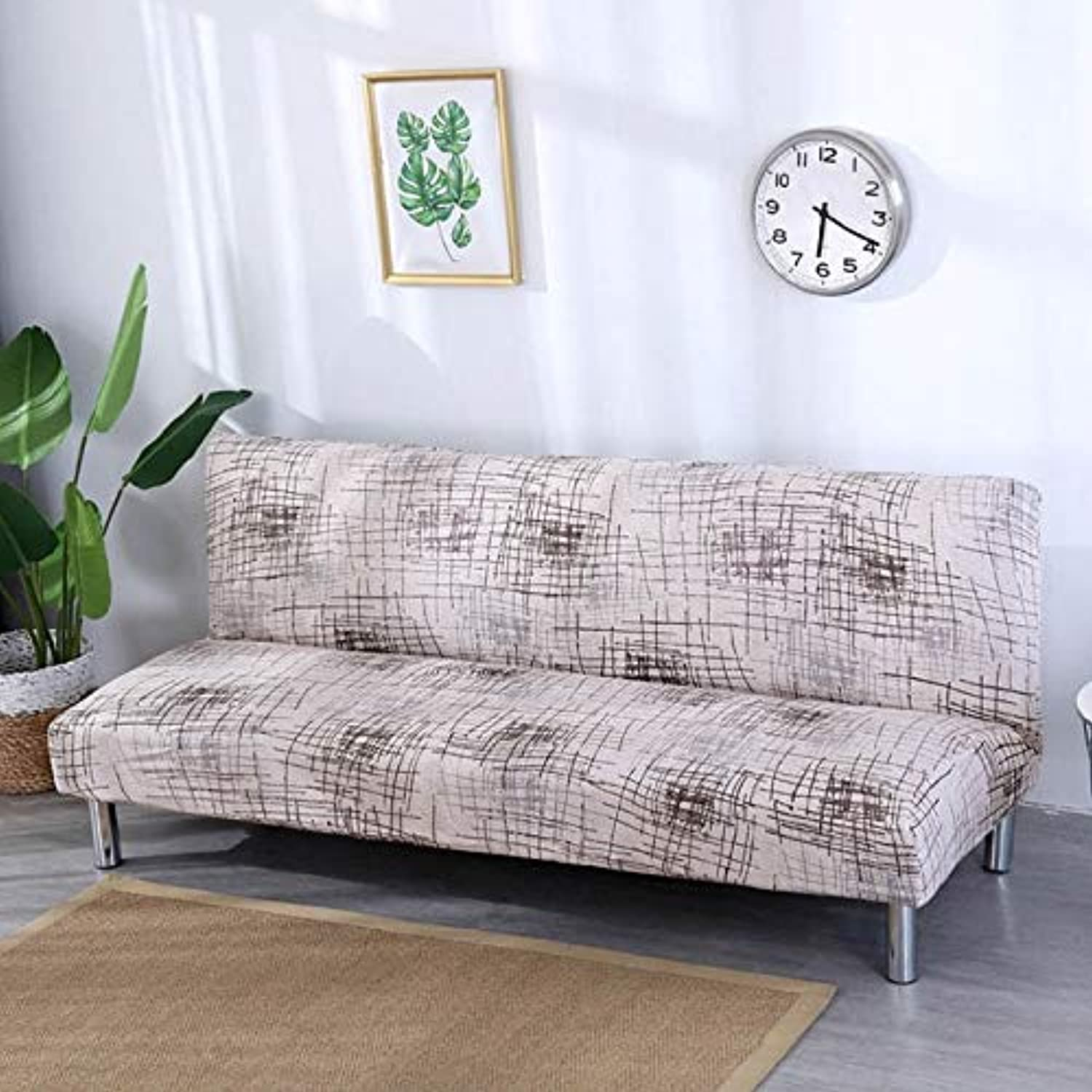Geometric Printing Sofa Bed Cover All-Inclusive Tight Wrap Folding Couch Case Sofa Length Without Armrest Between 165cm to 185cm   color 17, 165cm to 185cm