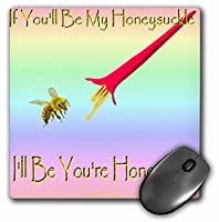 3drose LLC 8x 8x 0.25インチ、マウスパッド、Honeysuckle Honeybee (MP 33017_ 1)
