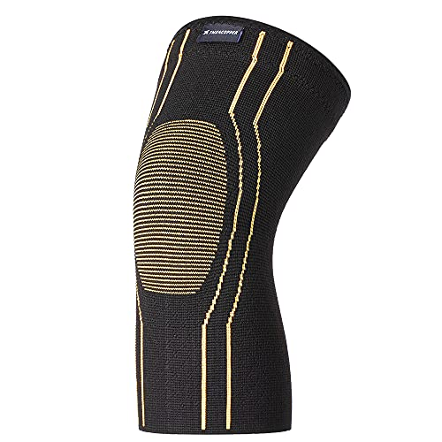 Thx4COPPER Sport Compression Knee Brace for Joint Pain and Arthritis Relief, Improved Circulation Support for Running, Jogging, Workout, Gym-Best Knee Sleeve-Medium