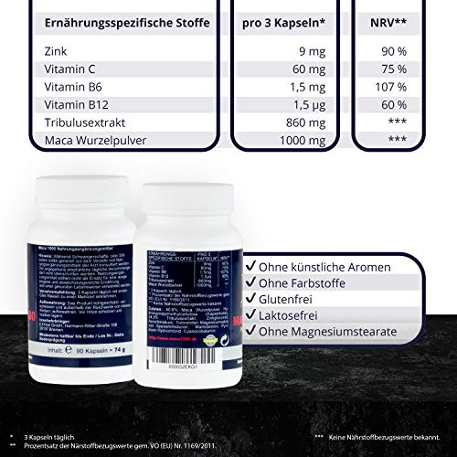 Maca 1000 plus Tribulus Potenzmittel - 4
