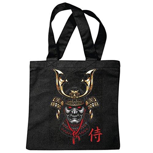 Tasche Umhängetasche Shanghai KÄMPFER Krieger Samurai Krieger Schwert KÄMPFER China Einkaufstasche Schulbeutel Turnbeutel in Schwarz