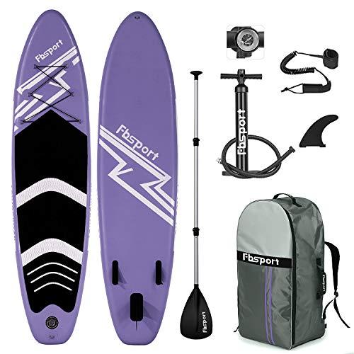 FBSPORT Tabla Sup Hinchable, Hinchable de Paddle Surf, Tabla de Surf Hinchable, Tabla de Paddle Surf, Sup Kit con Remo de Aluminio + Bomba +Accesorios Completos | Medidas: 320×78×15cm
