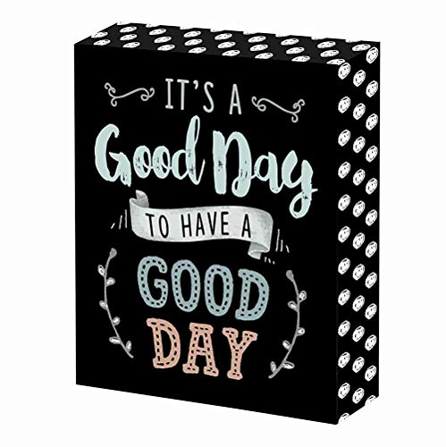 SANY DAYO HOME It's A Good Day to Have A Good Day 6 x 8 inches Wood Box Signs with Inspirational Saying for Office, Home and Wall Farmhouse Decor