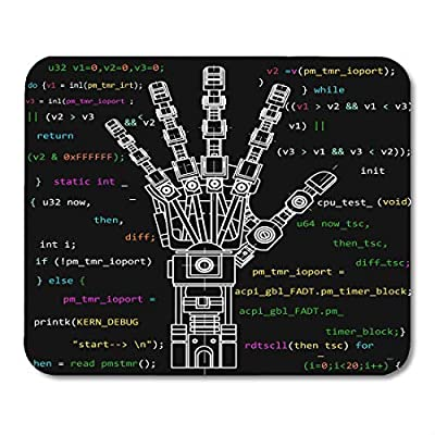 """Emvency Mouse Pads The Drawing Model of Robot Arm Robotics Ideas Artificial Intelligence Bionic Prostheses Science Mousepad 9.5"""" x 7.9"""" for Laptop,Desktop Computers Office Supplies Mouse Mats"""
