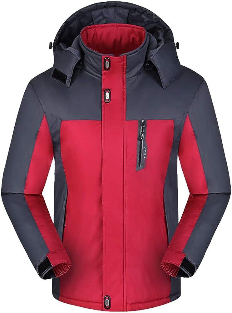 IHGTZS Men Winter Long Sleeve Warm Hooded Zip Thick Fleece Coat Outwear Wind Jacket