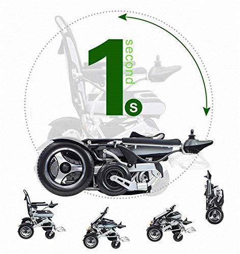 Silla de Ruedas eléctrica Plegable, Silla de ruedas, silla de ruedas ligera 2.020 eléctrico se puede plegar en un segundo Adaptar Varios silla de ruedas Condiciones de la carretera compacto ec