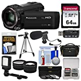 Panasonic HC-V770 Wireless Smartphone Twin Wi-Fi HD Video Camera Camcorder + 64GB Card + Case + LED...