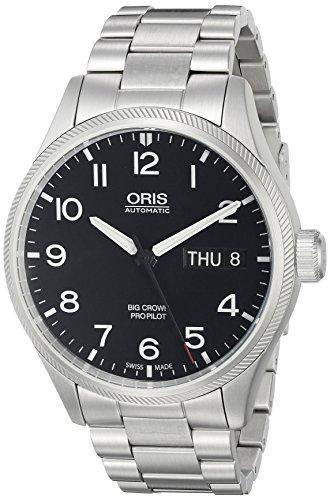 Oris 75276984164MB - Orologio da uomo con display analogico e quadrante analogico svizzero automatico argento
