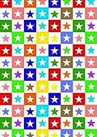 igsticker ポスター ウォールステッカー シール式ステッカー 飾り 1030×1456㎜ B0 写真 フォト 壁 インテリア おしゃれ 剥がせる wall sticker poster 002399 ユニーク カラフル 星