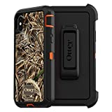 Otterbox Defender Series Screenless Edition Case for Iphone Xs & Iphone X - Retail Packaging - (Blaze Orange/Black/Max 5 Camo)