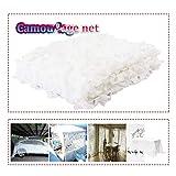 Red de camuflaje militar de arena blanca de 5 x 6 m para sombra de jardín, malla de camuflaje reforzada., blanco, 4x5m/13x16ft