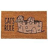Puckator Simon's Cat Zerbino-Cats Rule, Fibra di Cocco, Marrone, 75 x 2 x 45 cm