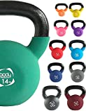 Body Revolution Neoprene Kettlebell – Rubber Coated Cast Iron Kettlebells (18kg`)