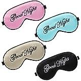 4 Piezas Antifaces de Dormir Máscara de Ojos de Dormir con Correa Ajustable Antifaz de Noche de Seda para Mujeres Hombres Viaje Sueño
