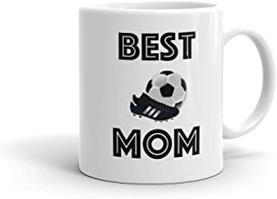 BEST SOCCER MOM Sports Coffee Mug (11oz) | FREE SHIPPING - Personalized Photo Mug Option Love & Appreciation Mothers Day Gift by Son Daughter Athlete Kids Children | Also available in 15oz & for Dad