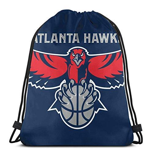 IUBBKI Kordelzug Rucksack Atlanta Basketball Hawk Gym Kordelzug wasserdichter Sportrucksack Reisetaschen