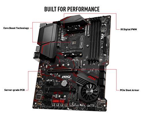MSI MPG X570 Gaming Plus Motherboard (AMD AM4, PCIe 4.0, DDR4, SATA 6Gb/s, M.2, USB 3.2 Gen 2, HDMI, ATX)