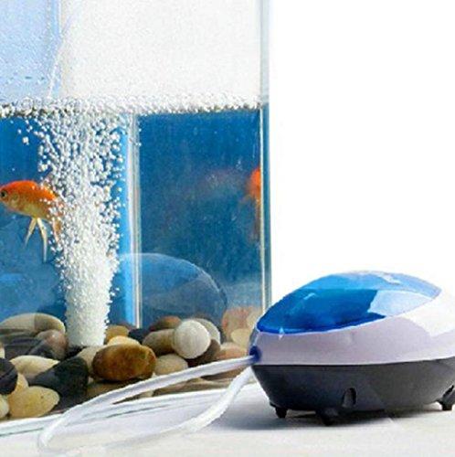 Sannysis Luftpumpe für tropische Aquarien, 2 Ausgänge, Sauerstoffpumpe Doppel 1,5 W