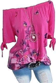 MK988 Women's Summer Print Stylish Short Sleeve Butterfly Casual T-Shirt Top Blouse
